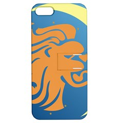 Lion Zodiac Sign Zodiac Moon Star Apple Iphone 5 Hardshell Case With Stand