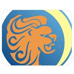 Lion Zodiac Sign Zodiac Moon Star Double Sided Flano Blanket (medium)