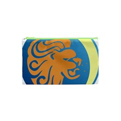 Lion Zodiac Sign Zodiac Moon Star Cosmetic Bag (xs)