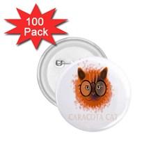 Cat Smart Design Pet Cute Animal 1 75  Buttons (100 Pack)