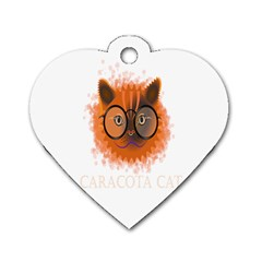 Cat Smart Design Pet Cute Animal Dog Tag Heart (one Side)