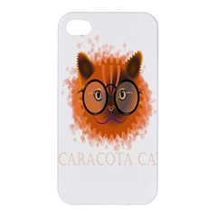 Cat Smart Design Pet Cute Animal Apple Iphone 4/4s Premium Hardshell Case