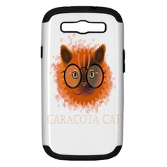 Cat Smart Design Pet Cute Animal Samsung Galaxy S Iii Hardshell Case (pc+silicone)