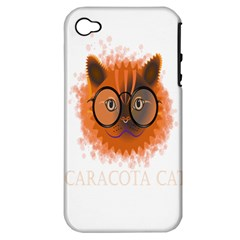 Cat Smart Design Pet Cute Animal Apple Iphone 4/4s Hardshell Case (pc+silicone)