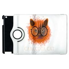 Cat Smart Design Pet Cute Animal Apple Ipad 3/4 Flip 360 Case