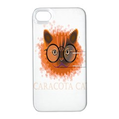Cat Smart Design Pet Cute Animal Apple Iphone 4/4s Hardshell Case With Stand