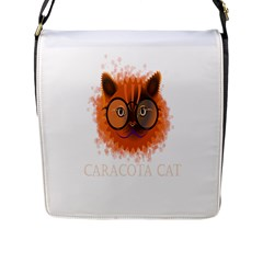 Cat Smart Design Pet Cute Animal Flap Messenger Bag (l)