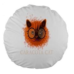 Cat Smart Design Pet Cute Animal Large 18  Premium Flano Round Cushions