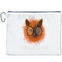 Cat Smart Design Pet Cute Animal Canvas Cosmetic Bag (xxxl)