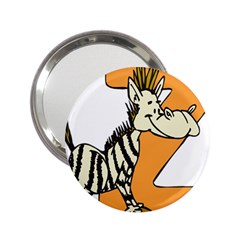 Zebra Animal Alphabet Z Wild 2 25  Handbag Mirrors