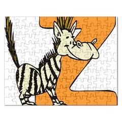 Zebra Animal Alphabet Z Wild Rectangular Jigsaw Puzzl