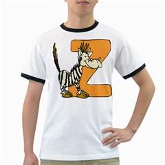 Zebra Animal Alphabet Z Wild Ringer T Shirts