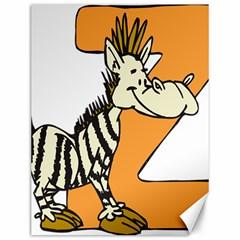 Zebra Animal Alphabet Z Wild Canvas 12  X 16