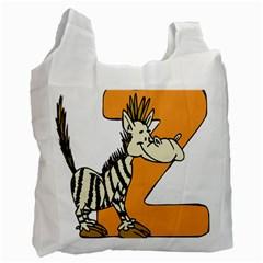 Zebra Animal Alphabet Z Wild Recycle Bag (one Side)