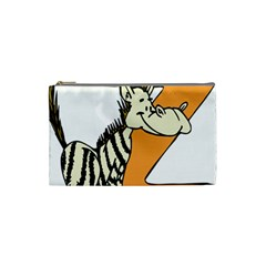 Zebra Animal Alphabet Z Wild Cosmetic Bag (small)