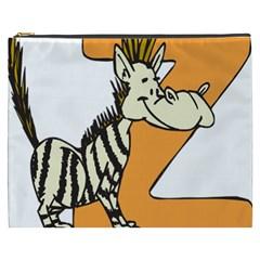 Zebra Animal Alphabet Z Wild Cosmetic Bag (xxxl)