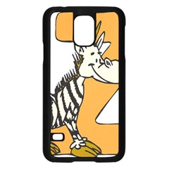 Zebra Animal Alphabet Z Wild Samsung Galaxy S5 Case (black)