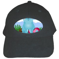 Pig Animal Love Black Cap