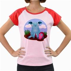 Pig Animal Love Women s Cap Sleeve T Shirt