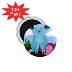 Pig Animal Love 1 75  Magnets (100 Pack)