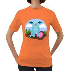 Pig Animal Love Women s Dark T Shirt