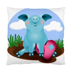 Pig Animal Love Standard Cushion Case (two Sides)