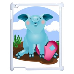 Pig Animal Love Apple Ipad 2 Case (white)