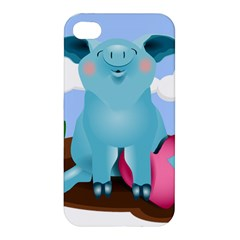 Pig Animal Love Apple Iphone 4/4s Premium Hardshell Case