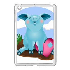 Pig Animal Love Apple Ipad Mini Case (white)