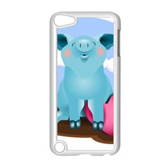 Pig Animal Love Apple Ipod Touch 5 Case (white)