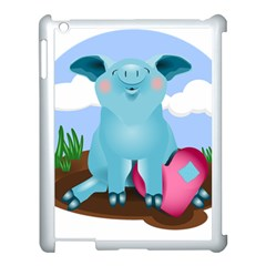 Pig Animal Love Apple Ipad 3/4 Case (white)