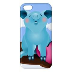 Pig Animal Love Apple Iphone 5 Premium Hardshell Case