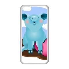 Pig Animal Love Apple Iphone 5c Seamless Case (white)