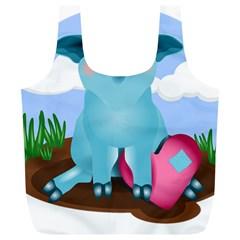 Pig Animal Love Full Print Recycle Bags (l)