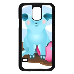Pig Animal Love Samsung Galaxy S5 Case (black)