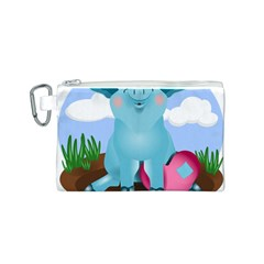 Pig Animal Love Canvas Cosmetic Bag (s)