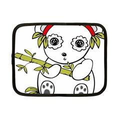 Panda China Chinese Furry Netbook Case (small)