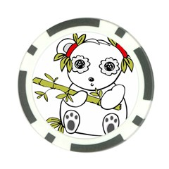 Panda China Chinese Furry Poker Chip Card Guard (10 Pack)