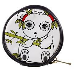 Panda China Chinese Furry Mini Makeup Bags