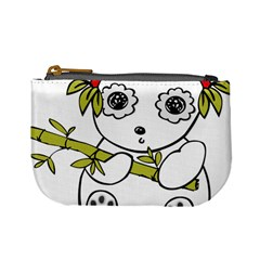 Panda China Chinese Furry Mini Coin Purses