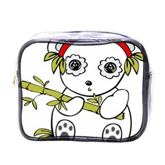 Panda China Chinese Furry Mini Toiletries Bags