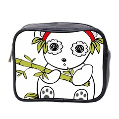 Panda China Chinese Furry Mini Toiletries Bag 2 Side