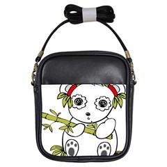 Panda China Chinese Furry Girls Sling Bags