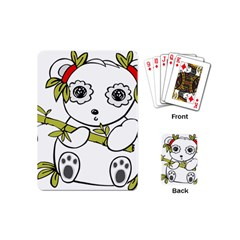 Panda China Chinese Furry Playing Cards (mini)