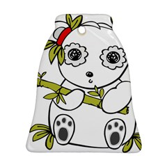 Panda China Chinese Furry Bell Ornament (two Sides)