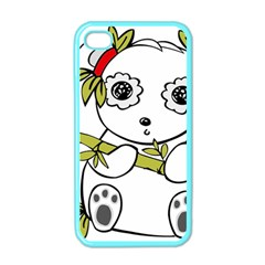 Panda China Chinese Furry Apple Iphone 4 Case (color)