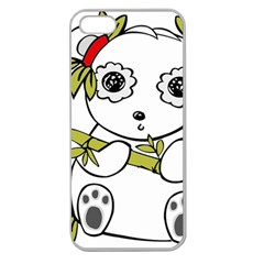 Panda China Chinese Furry Apple Seamless Iphone 5 Case (clear)