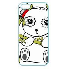 Panda China Chinese Furry Apple Seamless Iphone 5 Case (color)