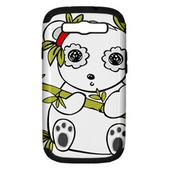 Panda China Chinese Furry Samsung Galaxy S Iii Hardshell Case (pc+silicone)