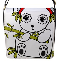 Panda China Chinese Furry Flap Messenger Bag (s)